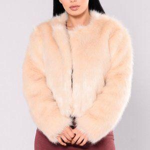 Fashion Nova Franchesca Faux Fur Open Jacket